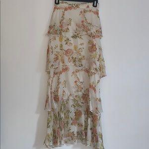 Zara women layered skirt